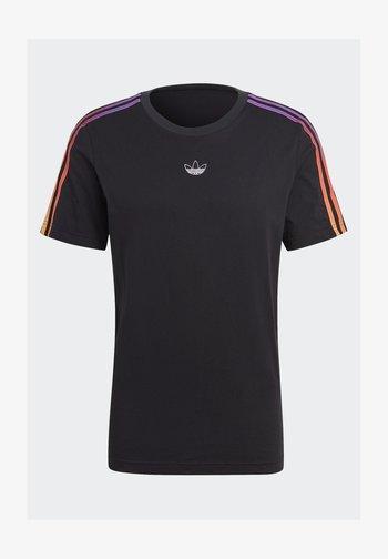 STRIPE UNISEX - T-shirt med print - black/multicolor