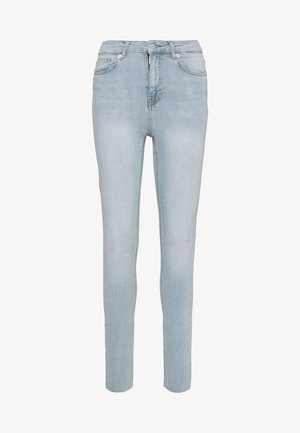 HIGH WAIST RAW - Jeans Skinny Fit - light blue