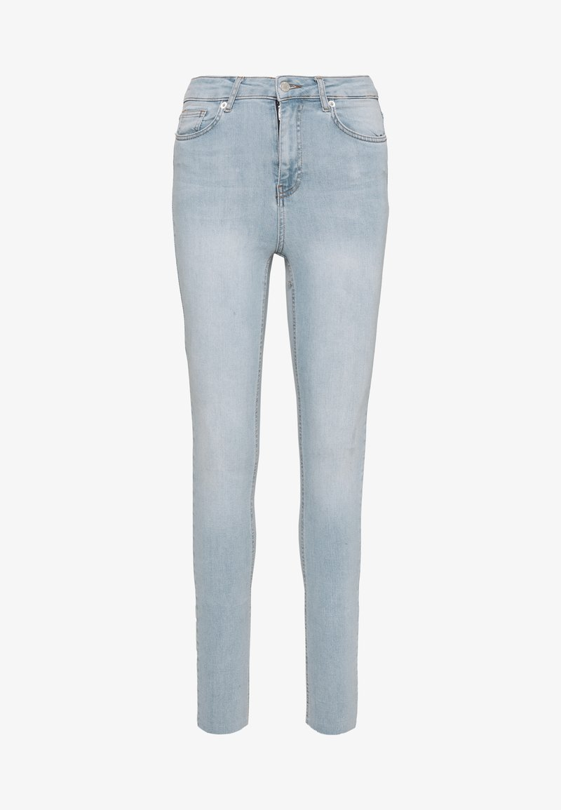 NA-KD Tall - HIGH WAIST RAW - Jeans Skinny Fit - light blue