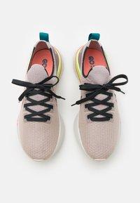 Nike Performance - REACT INFINITY RUN FK PRM - Neutral running shoes - violet ash/dark smoke grey/pink blast - 3