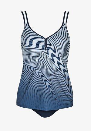 TANKINI  - Swimsuit - blue/ white