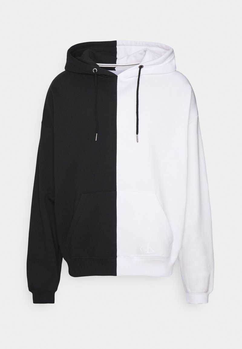 Calvin Klein Jeans - BLOCKING RELAXED FIT UNISEX - Hoodie - bright white