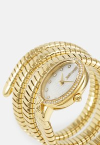 Just Cavalli - DROUBLE WRAP WATCH - Watch - gold-coloured/white - 4