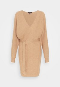 Vero Moda - VMREM VNECK  - Jumper dress - tan/melange - 3