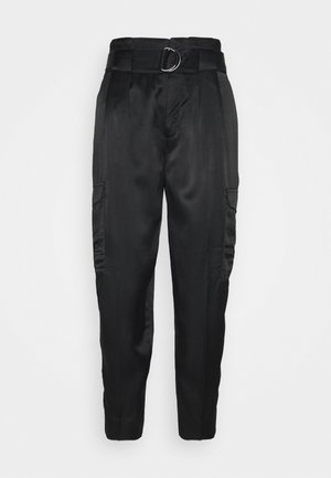 UTILITY TAPER - Trousers - black