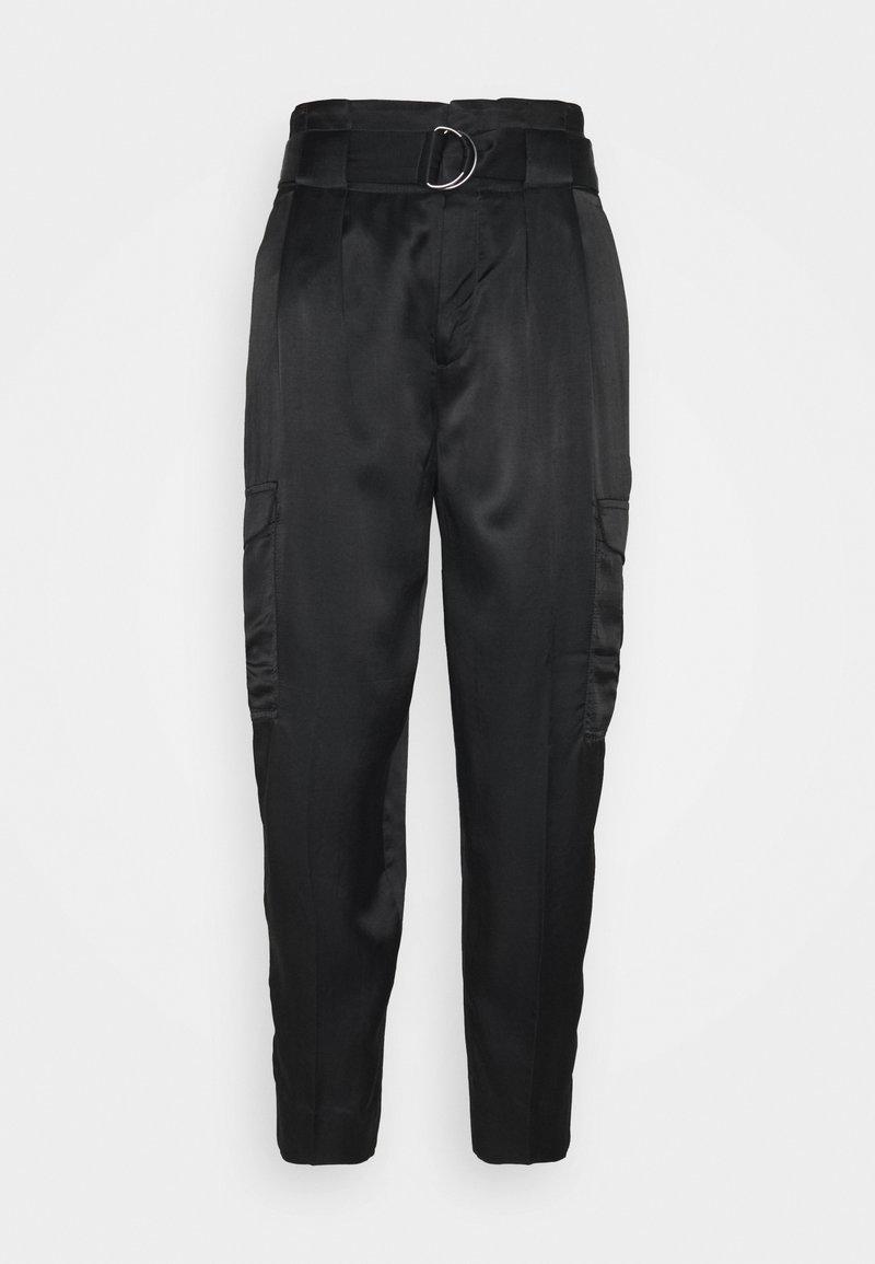 Banana Republic - UTILITY TAPER - Trousers - black