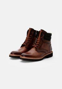 Lloyd - FERNANDO - Lace-up ankle boots - cognac/anthrazit - 1