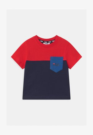 MARCO BLOCKED  - Print T-shirt - black iris/true red/dazzling blue