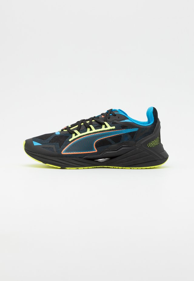 ULTRARIDE FM XTREME UNISEX - Scarpe running neutre - black/nrgy blue/ultra orange