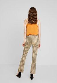 Vila - VIDIGAN FLARE PANT - Trousers - golden rod - 2