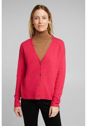 BUTTON CARDI - Cardigan - pink fuchsia