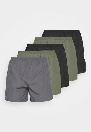 5 PACK - Boxer shorts - black/khaki/dark grey