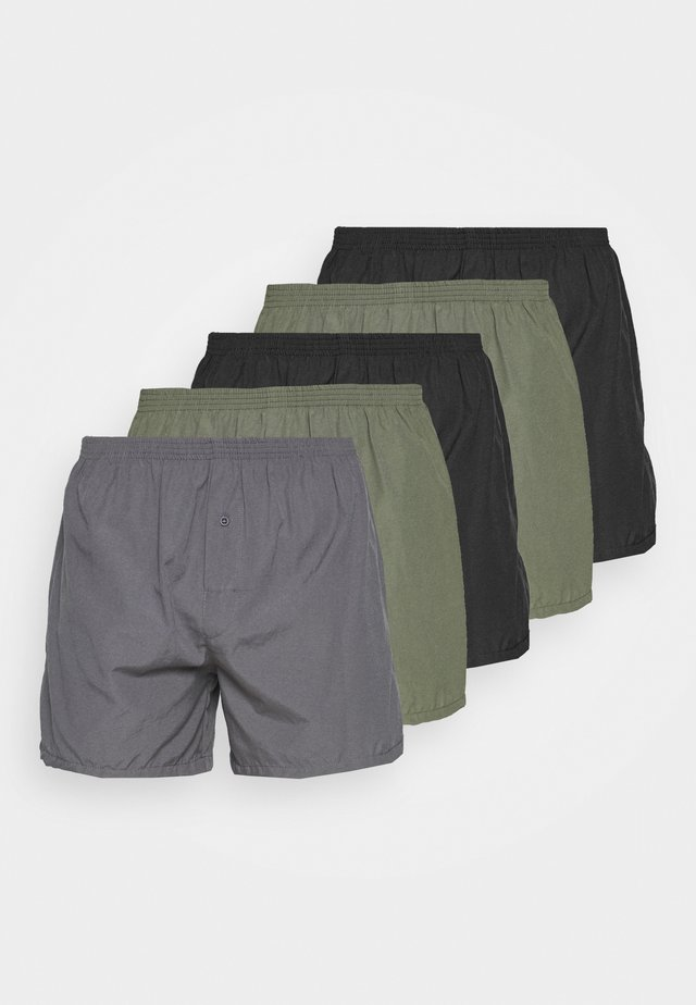 5 PACK - Caleçon - black/khaki/dark grey