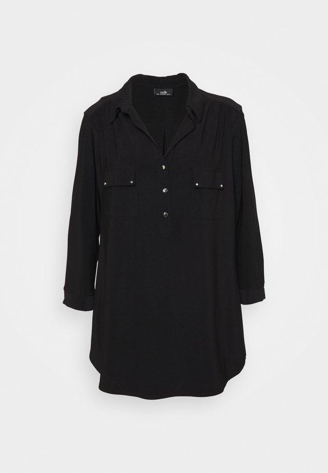 PLAIN - T-shirt à manches longues - black