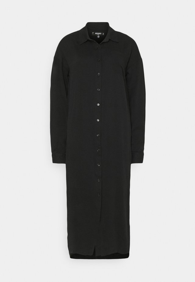 UTILITY MIDI DRESS - Skjortekjole - black