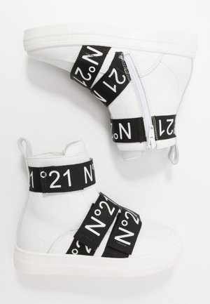 High-top trainers - white/black