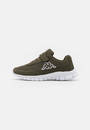 FOLLOW UNISEX - Sports shoes - army/white