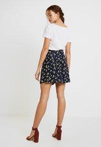 Leon & Harper - JIMBO CHERRY - A-line skirt - navy - 2