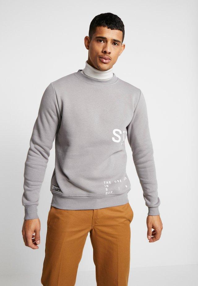 INSTRUSTIONS CREW - Sweatshirt - grey