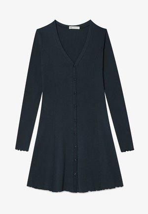MIT V AUSSCHNITT  - Jumper dress - black