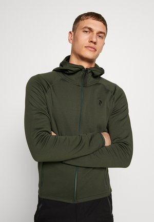 CHILL LIGHT HOOD - Fleece jacket - drift green