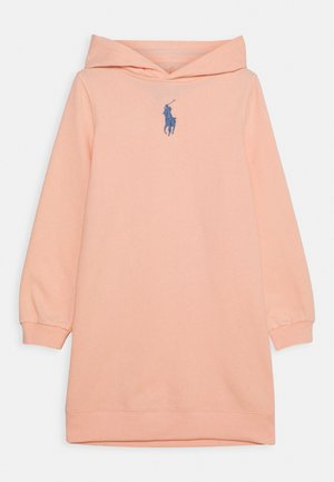 HOOD DRESS - Day dress - deco coral