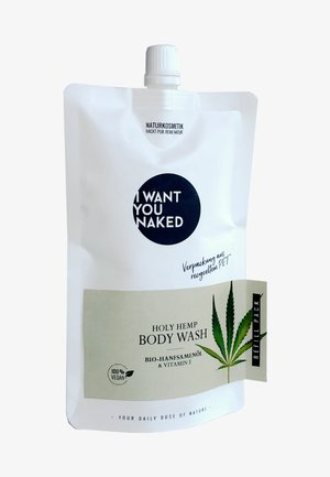 HOLY HEMP BODY WASH BIO-HANFSAMENÖL & VITAMIN E REFILL - Shower gel - -