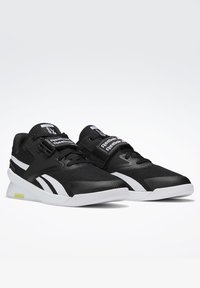 Reebok - LIFTER PR II - Sports shoes - black/white/chartr - 3