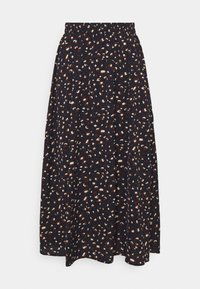 Pieces - PCDALLAH MIDI SKIRT - A-line skirt - maritime blue/brown - 0