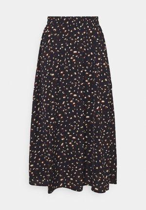 PCDALLAH MIDI SKIRT - A-line skirt - maritime blue/brown