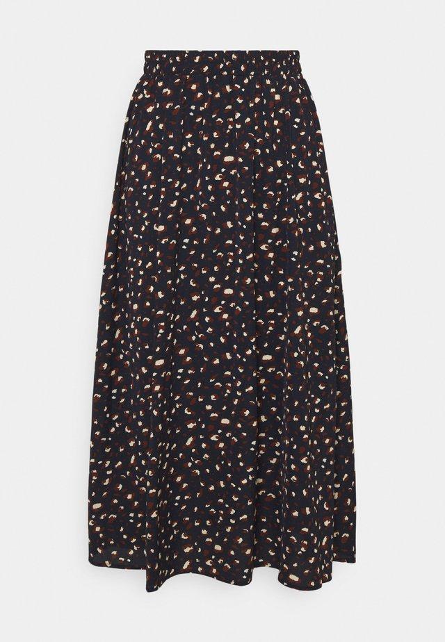 PCDALLAH HW MIDI SKIRT - A-line skirt - maritime blue/brown