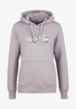Hoodie - minimal grey / laurel wreath green / canvas paint / texture print