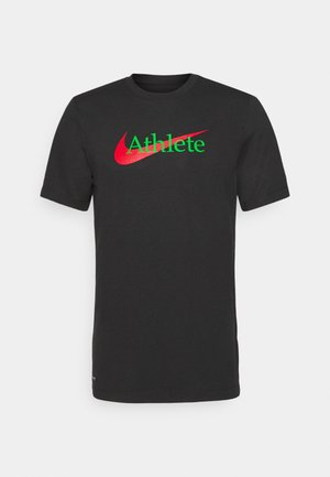 TEE ATHLETE - T-shirt con stampa - black
