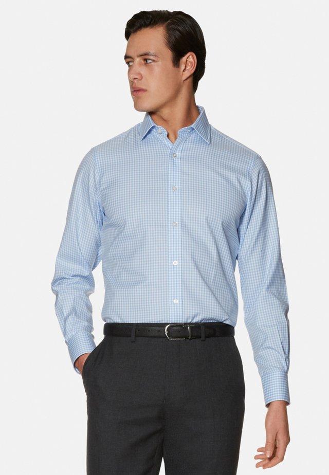 SLIM FIT GINGHAM - Shirt - blue