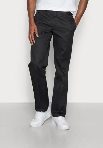 SLIM STRAIGHT WORK PANT - Chino kalhoty - black