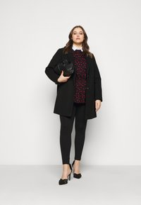 Dorothy Perkins Curve - MINIMAL SHAWL COLLAR COAT - Manteau classique - black - 1