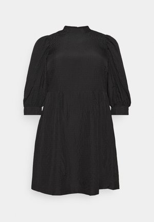 VMSILJE HIGH-NECK SHORT DRESS - Day dress - black