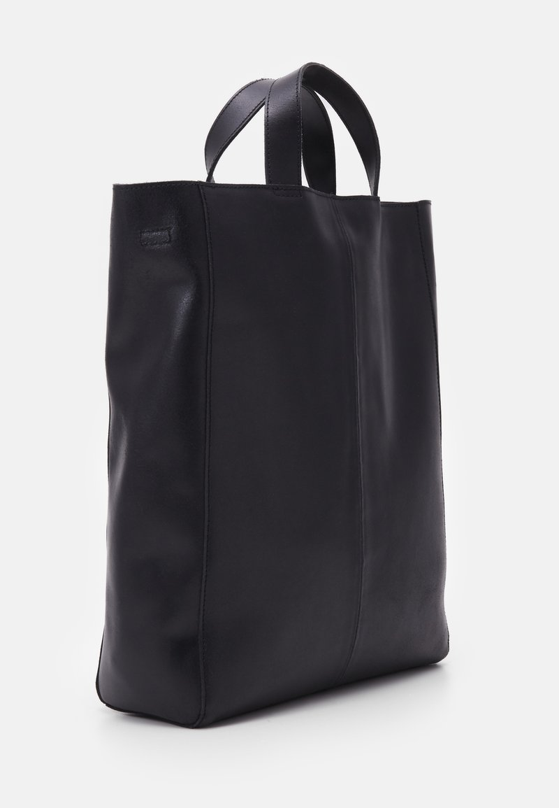Zign ZAHMAD LEATHER - Shoppingväska - black