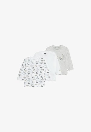 LANGARM 3 PACK - Long sleeved top - offwhite/grau