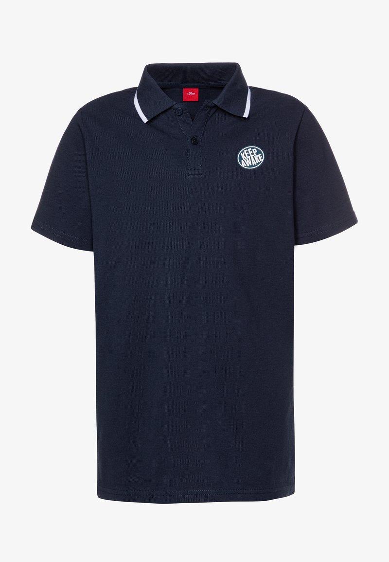 s.Oliver - KURZARM - Polo shirt - dark blue