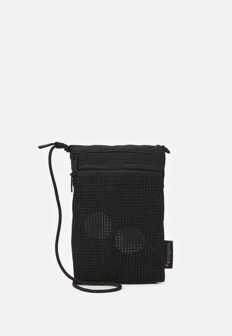 pinqponq - FLAK SMALL UNISEX NECK POUCH - Across body bag - pure black