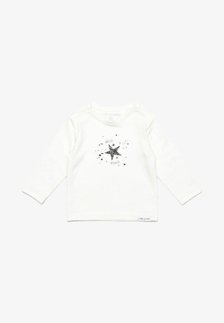 Noppies - TEE LUX TEKST - Long sleeved top - snow white