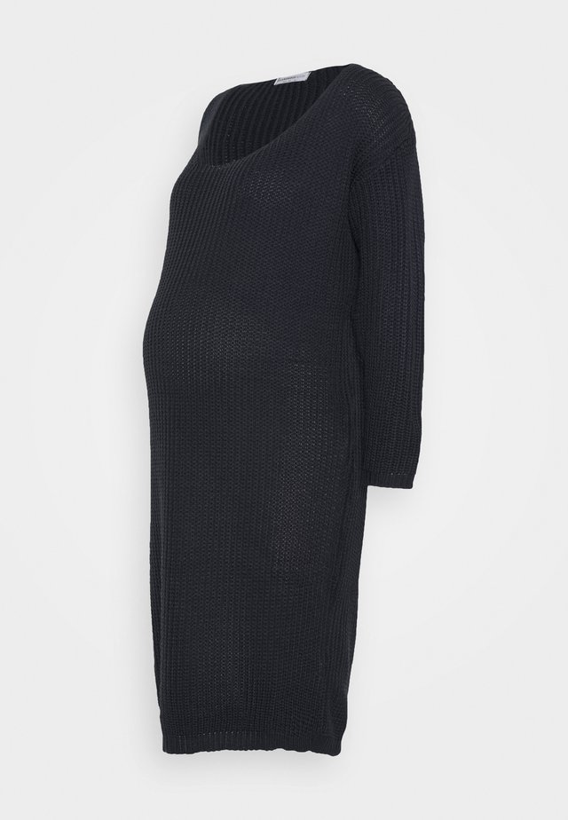 COSY JUMPER DRESS - Gebreide jurk - navy