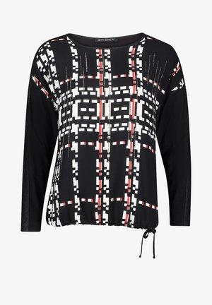 MIT TUNNELZUG - Long sleeved top - schwarz/weiß