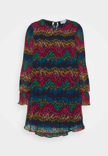 LEOPARD PLEATED MINI - Denní šaty - multi