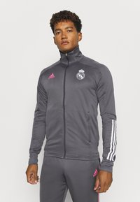 adidas Performance - REAL MADRID AEROREADY FOOTBALL TRACKSUIT SET - Klubové oblečení - grey - 2