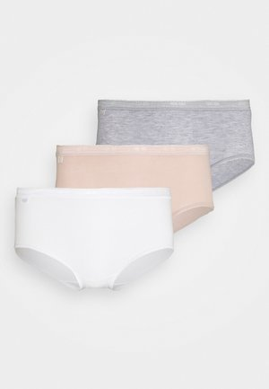 BASIC MIDI 3 PACK - Briefs - white/light combination