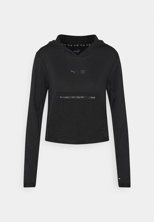 TRAIN FIRST MILE LIGHTWEIGHT HOODIE  - Felpa - puma black