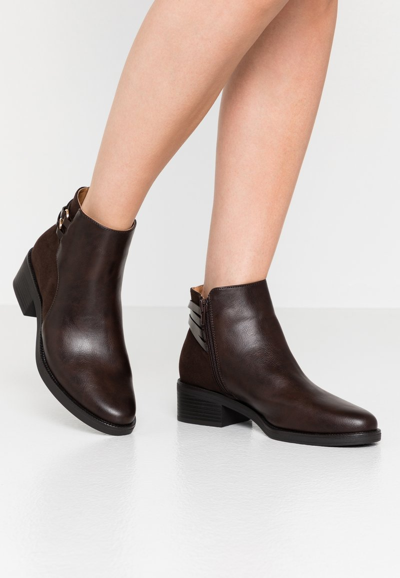 Anna Field Wide Fit - Ankle boots - brown