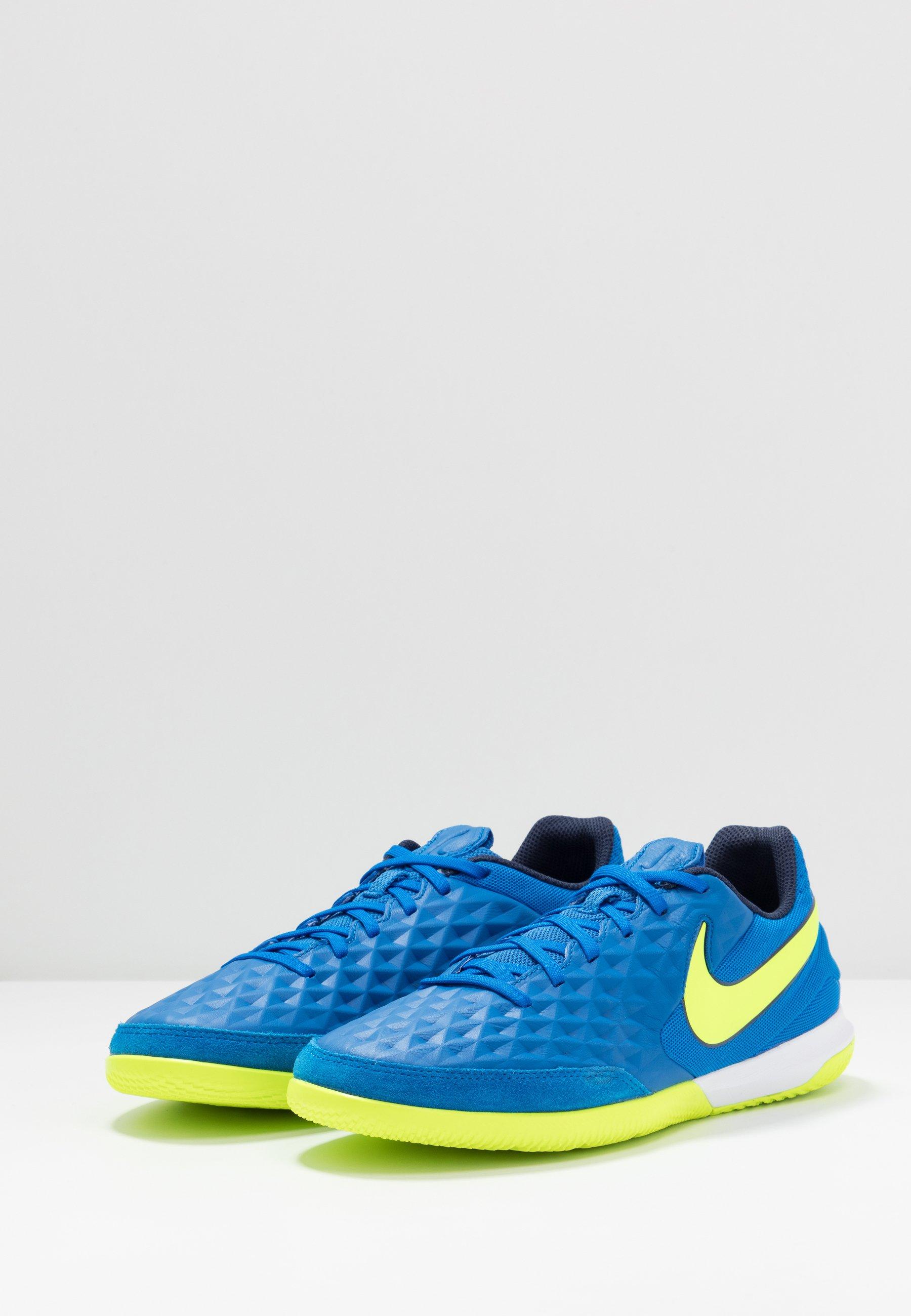Nike Performance TIEMPO LEGEND 8 ACADEMY IC - Fußballschuh Halle - soar/volt/midnight navy/blau - Herrenschuhe ah2RR